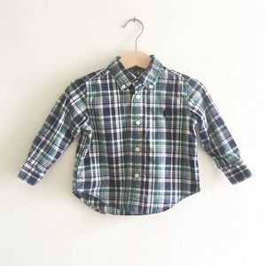 🌿 Ralph Lauren Shirt Plaid Button Down 12 Mos